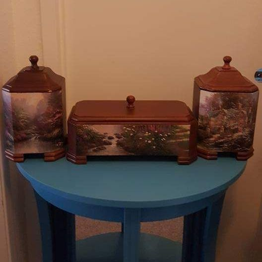 (3)THOMAS KINKADE WOODEN BOXES