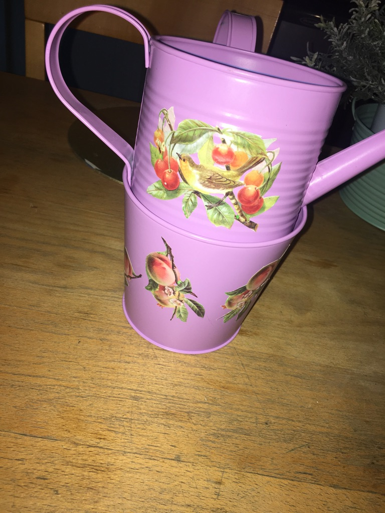 Tin flower pots