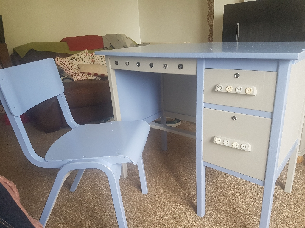 1950's school desk repainted
