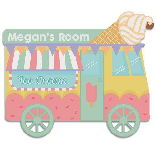 Ice cream bedroom door plaque