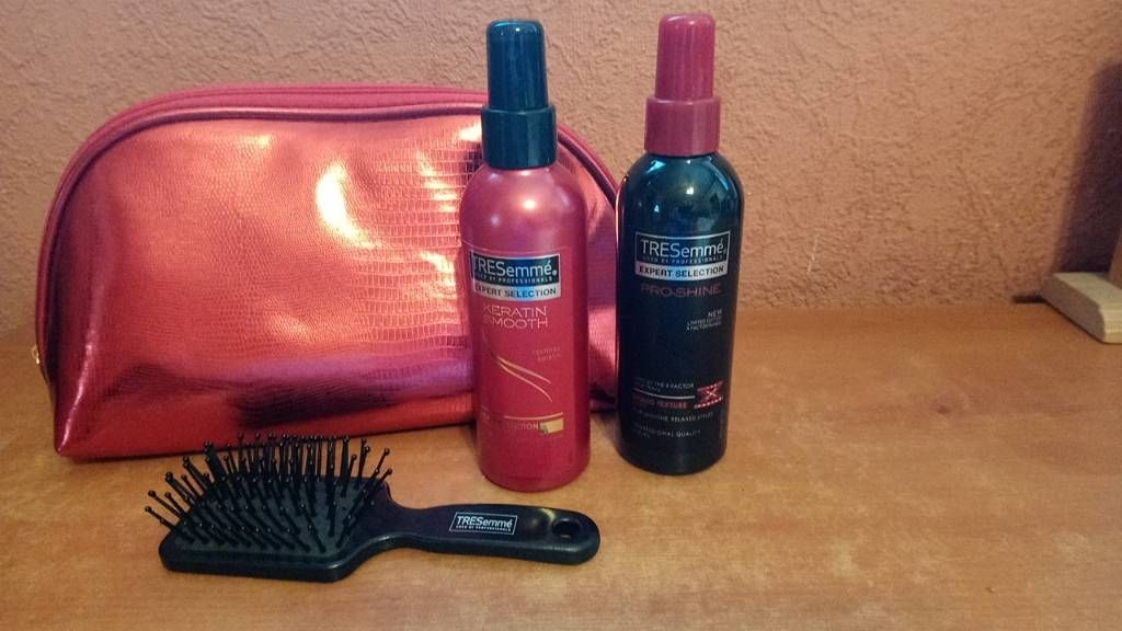 Tresemme Hair Products, Brush and Bag.