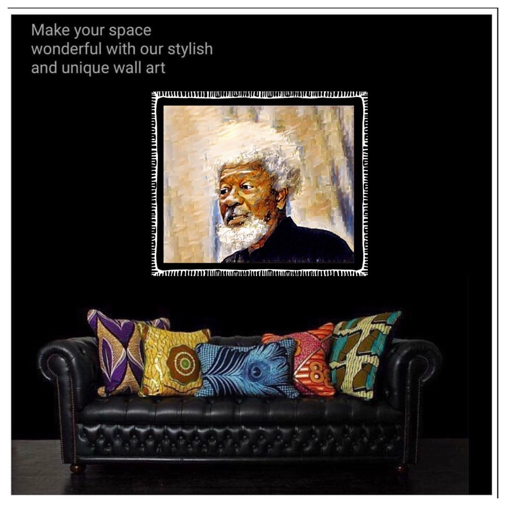 Wole Soyinka Canvas Wall Hanging ready to display