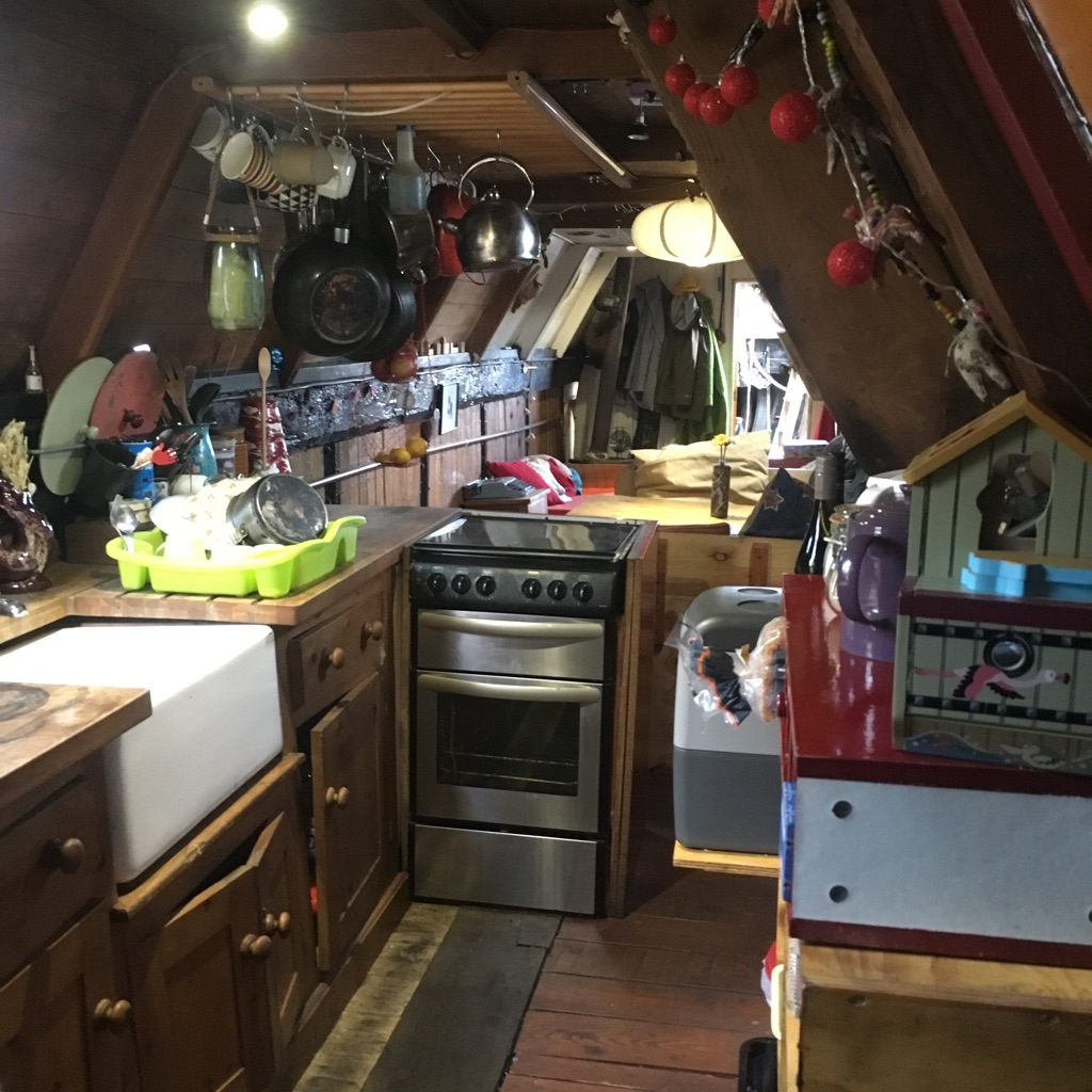Rare and quirky wooden narrowboat with lots of character