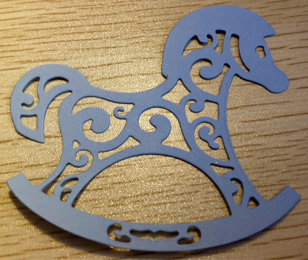 Rocking Horse Card Toppers (8cm)