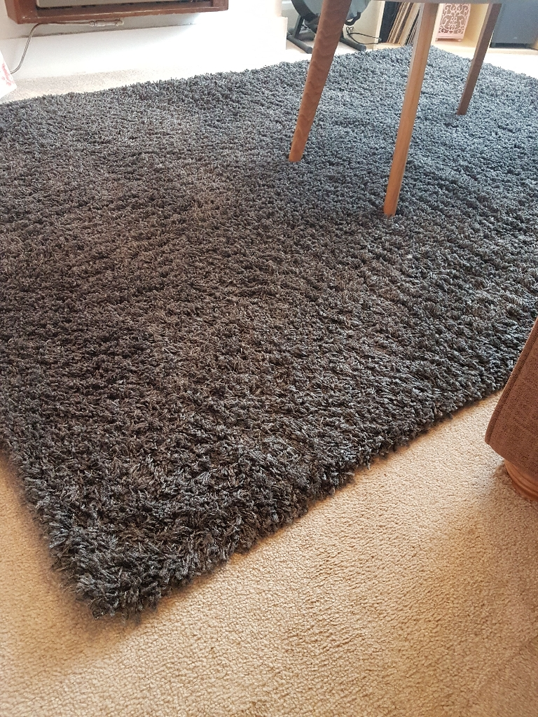 Grey/Charcoal Shaggy Rug