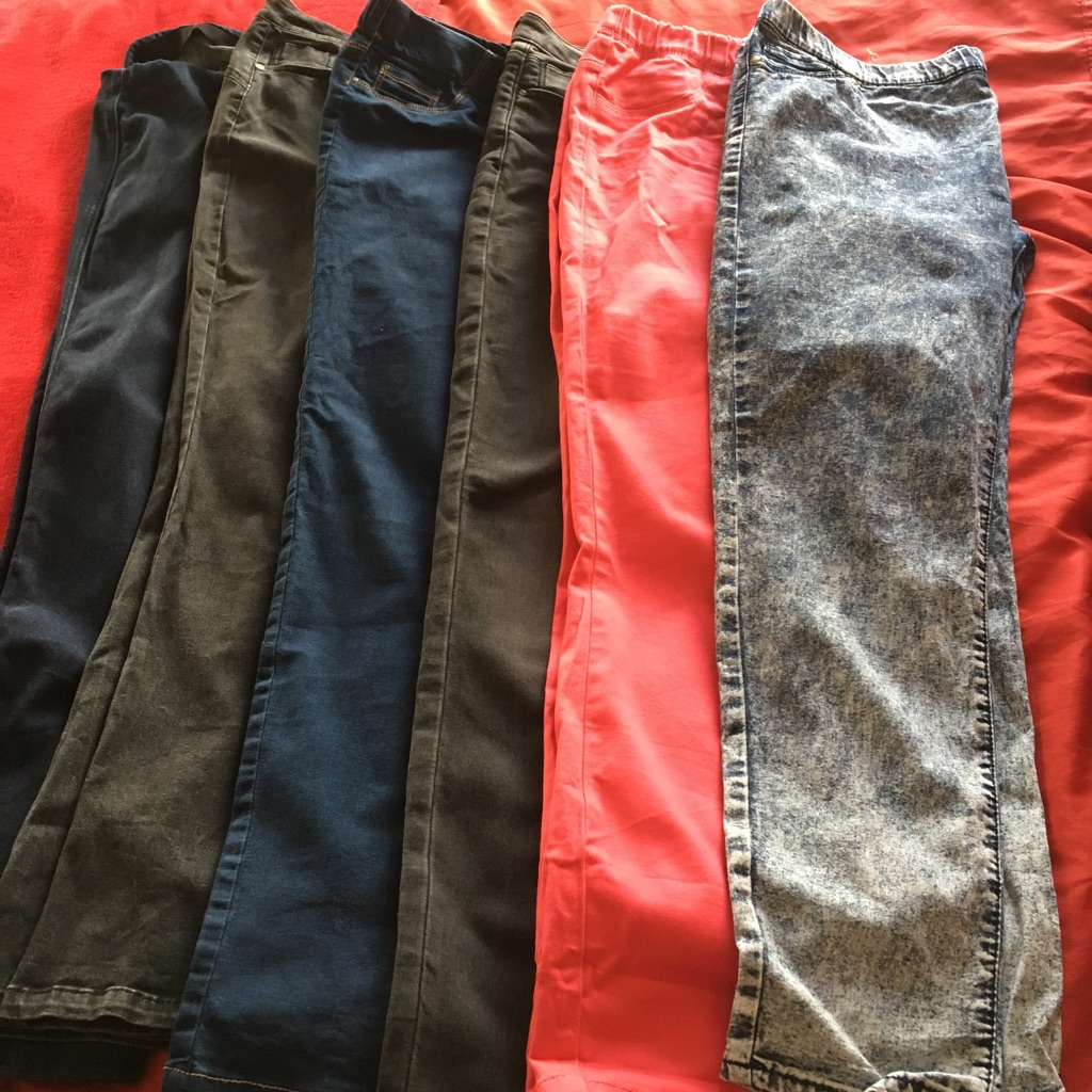 Selection of jeans/jeggings size 18