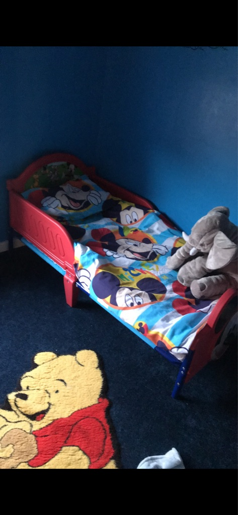 Mickey Mouse Toddler Bed & Mattress