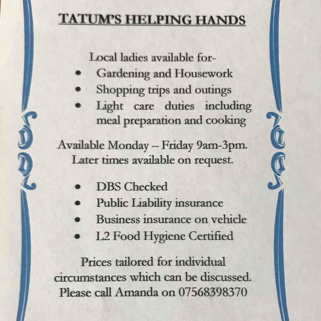 Tatum's Helping Hands