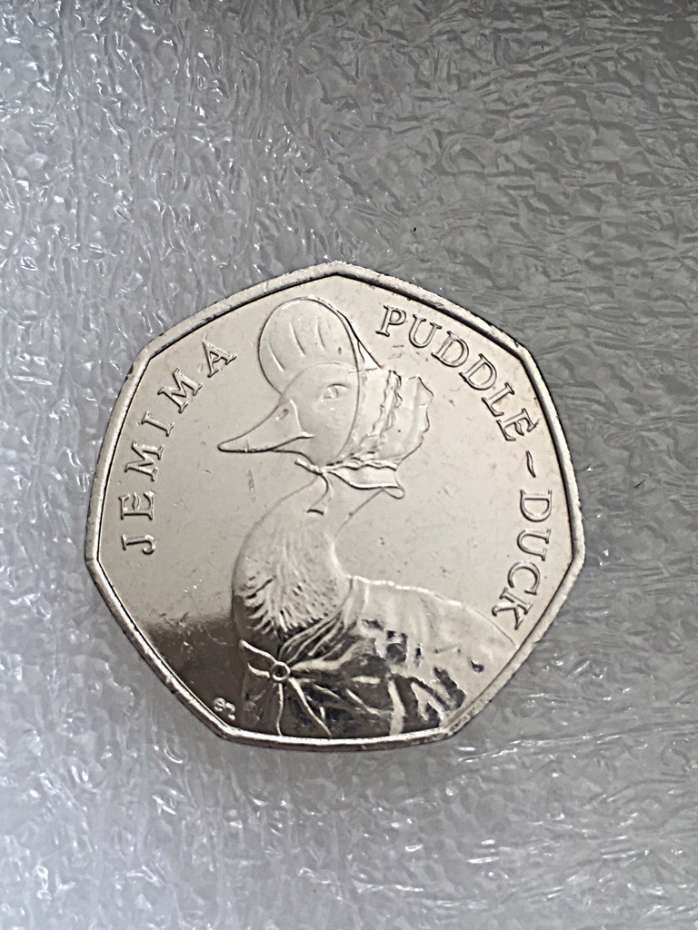50p coin jemima puddle duck 2016.