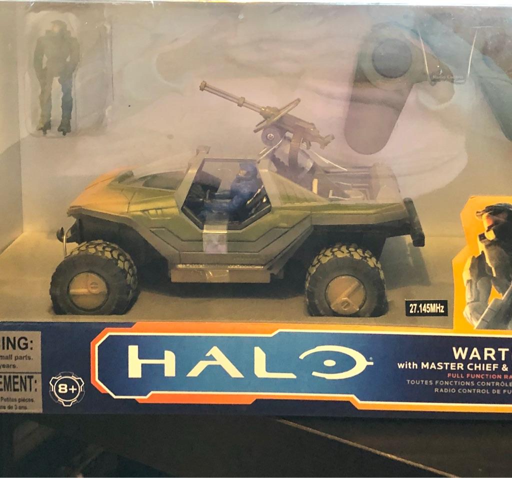 HALO WARTHOG WITH MASTER CHIEF & SPARTAN MARK VI