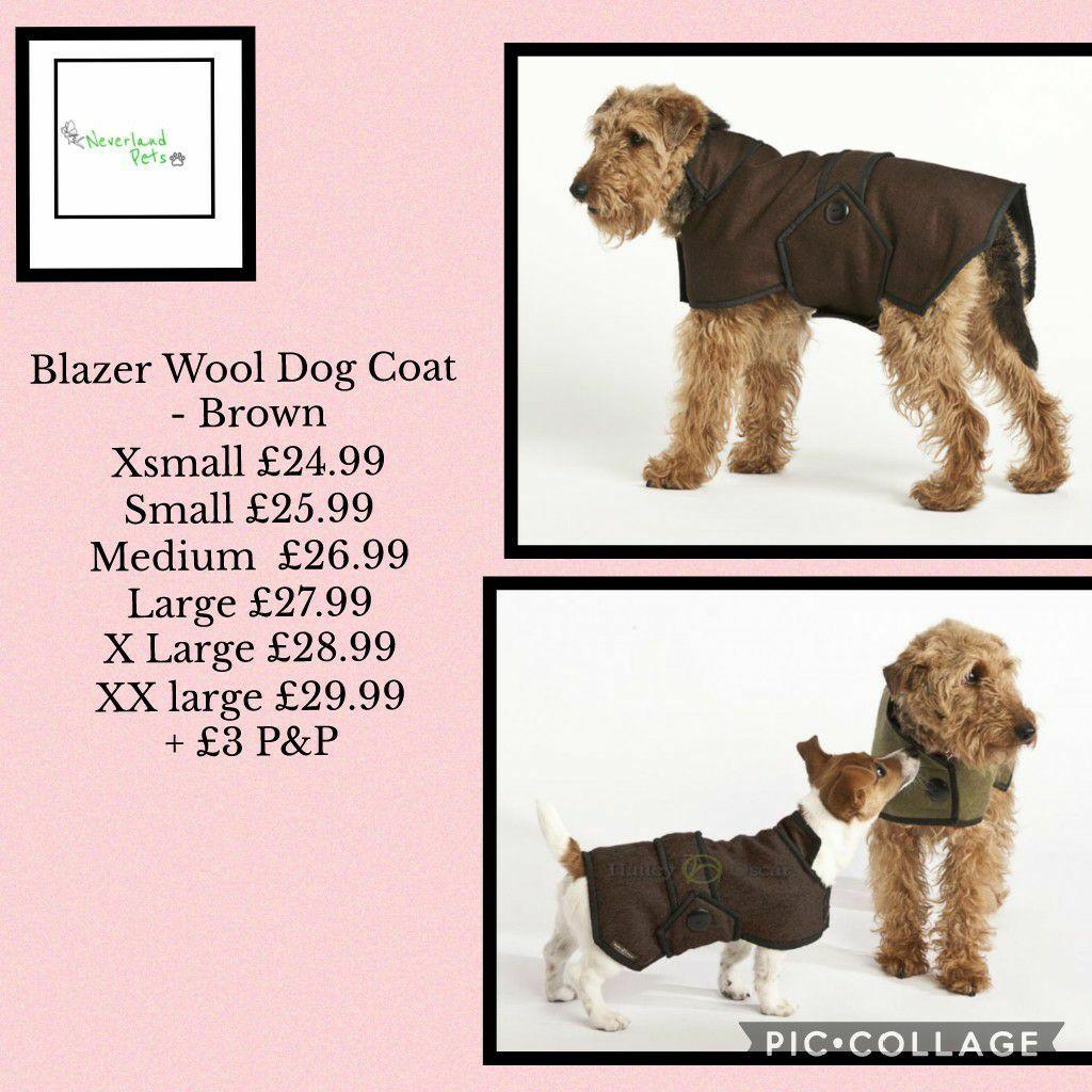 Blazer Wool Dog Coat Brown