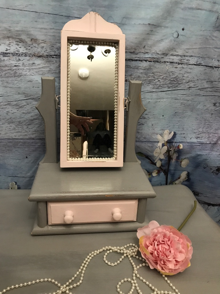 Small dressing table mirror