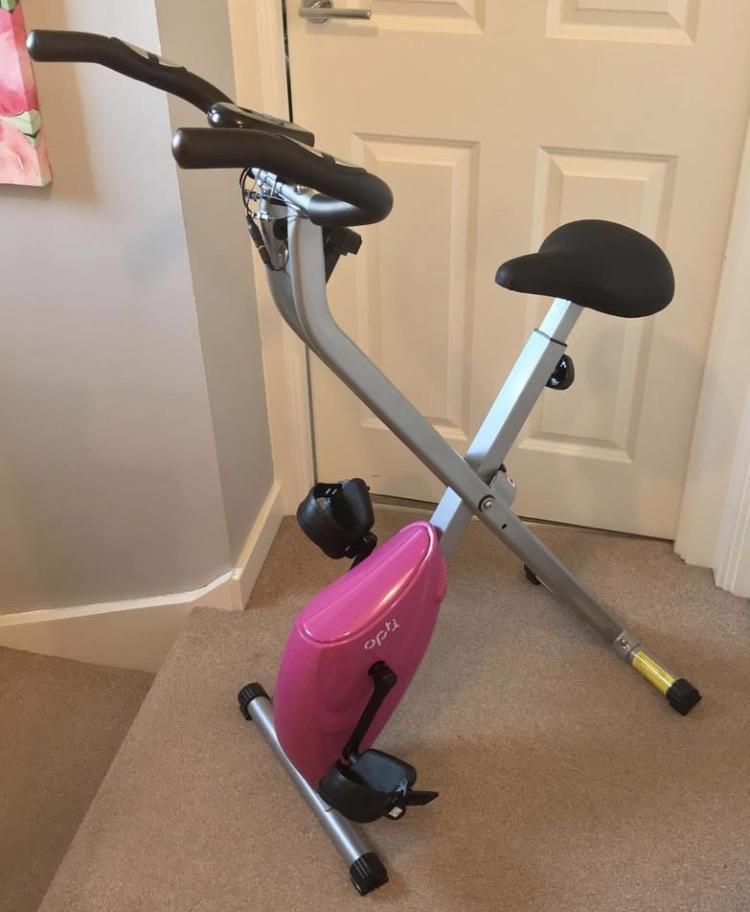 Opti Pink Exercise Bike