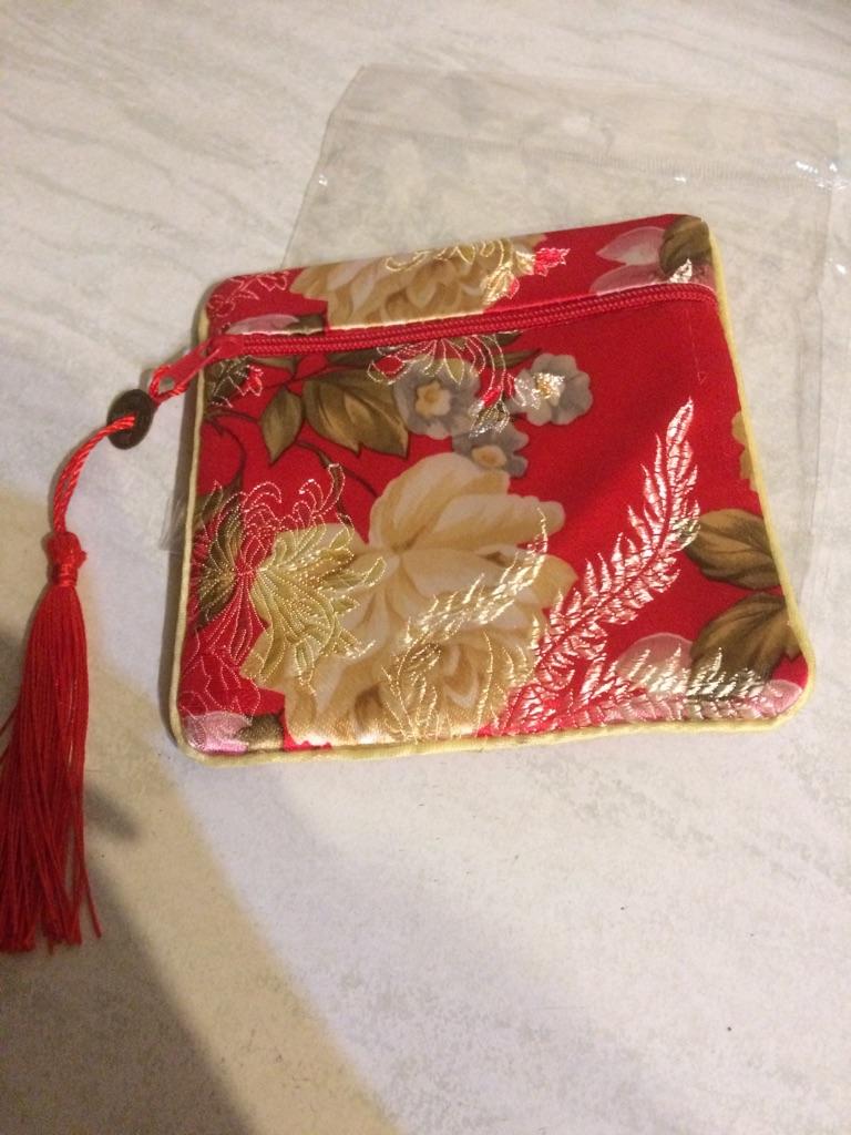 New silk coin purse