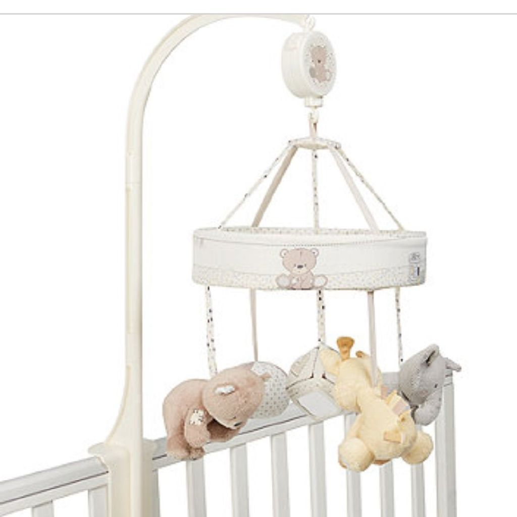 Mother care Teddy's toy box cot mobile