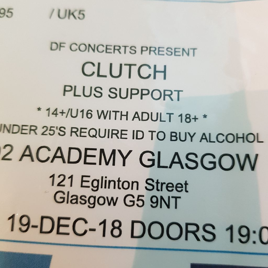 Clutch gig tickets (2)