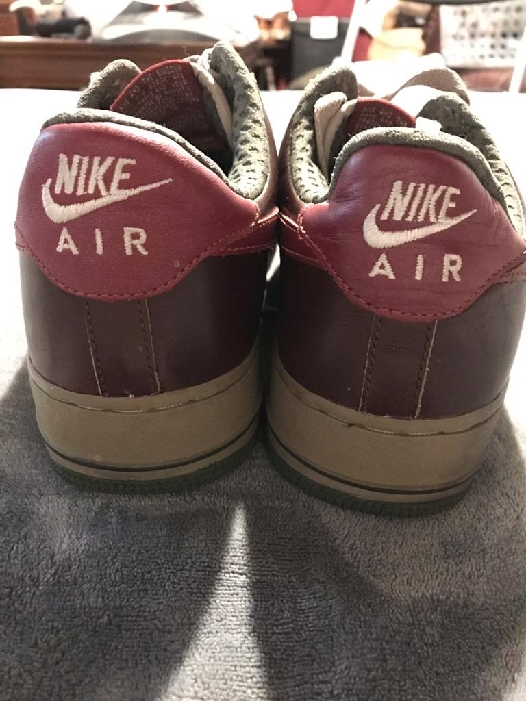 Nike Air Force 1 Burgundy/Gray