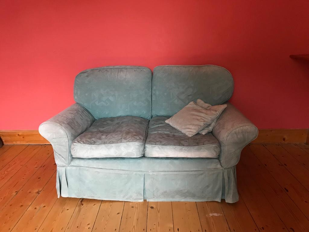 Two comfy matching sofas