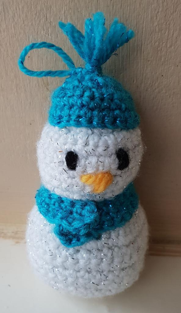 Handmade crochet snowmen