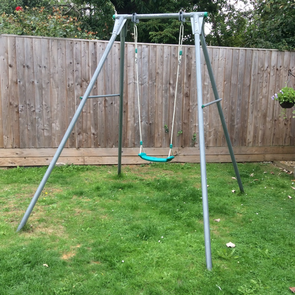 Sturdy metal swing