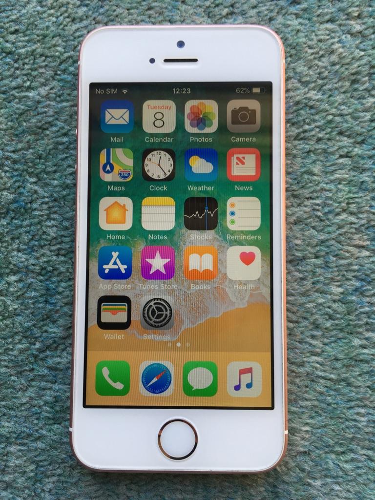 iPhone SE 16Gb Rose Gold Unlocked.