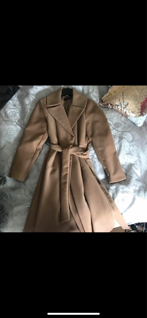 Beautiful mid calf length camel coat - Size 14