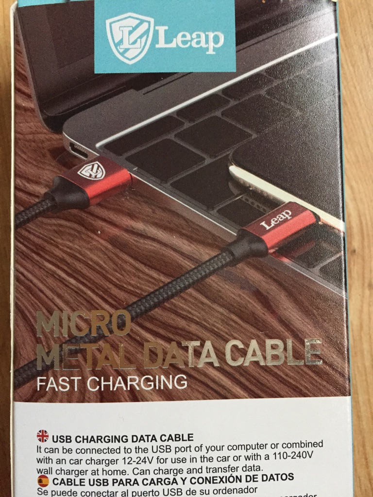 Samsung charger cable micro.. 3 mtr long cable.