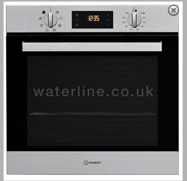 New indesit fan oven & grill