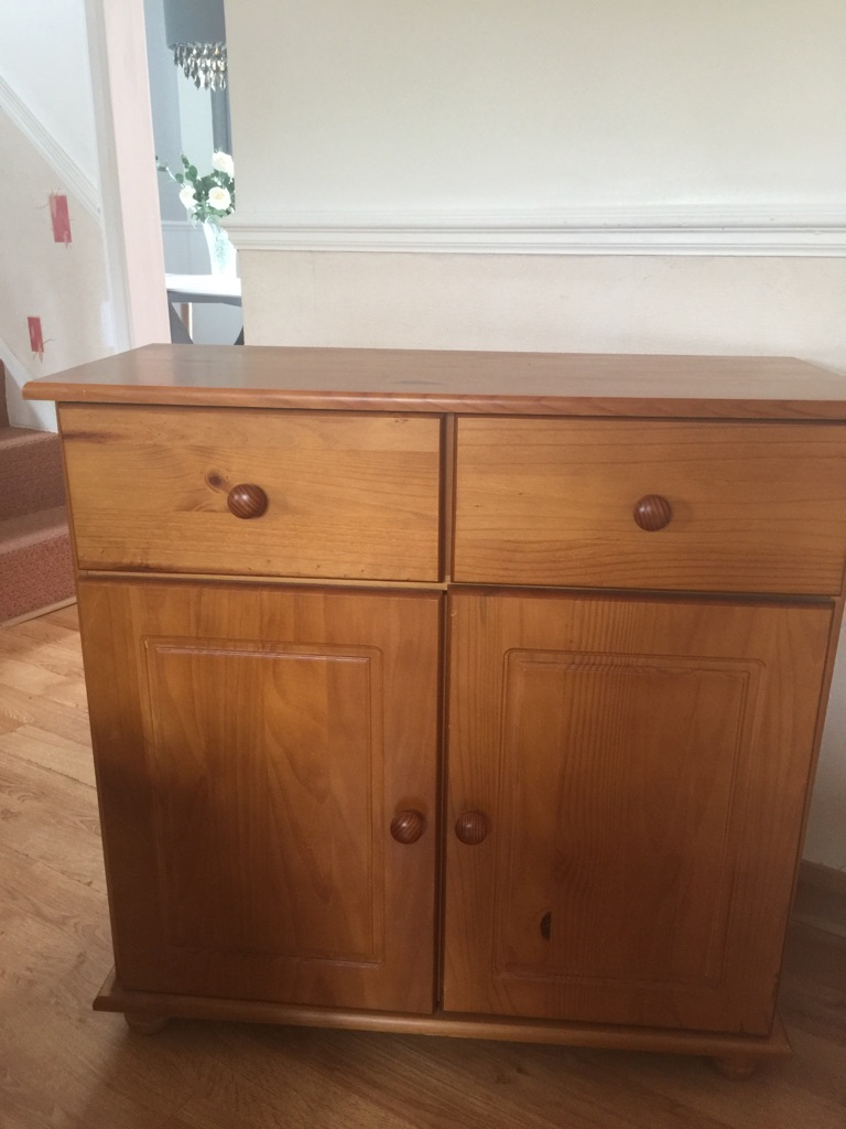 Pine sideboard. TV Unit and Two nest of Tables