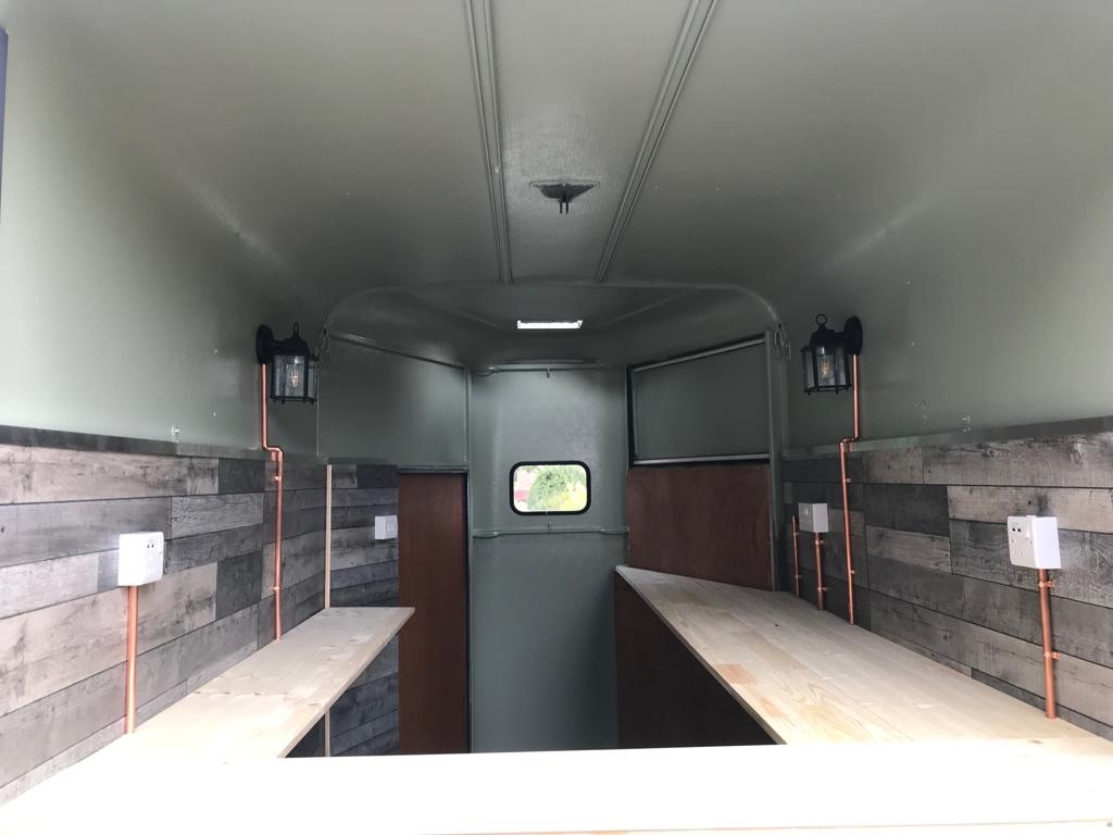 Converted horse trailer - bar/catering unit (work still being completed)