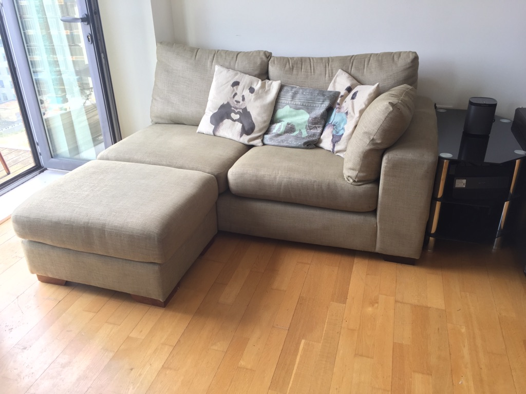 Contemporary Sofa With Footrest And Storage