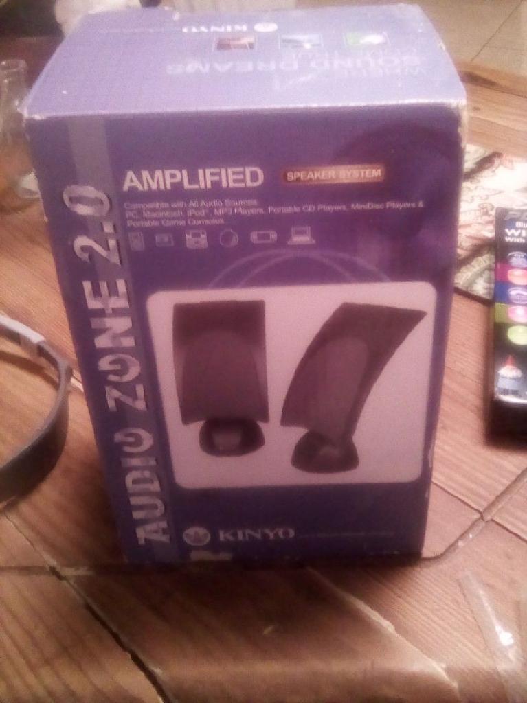 Amplifed speakers brand new