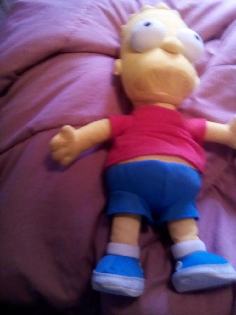 Collectible Bart Simpson plush