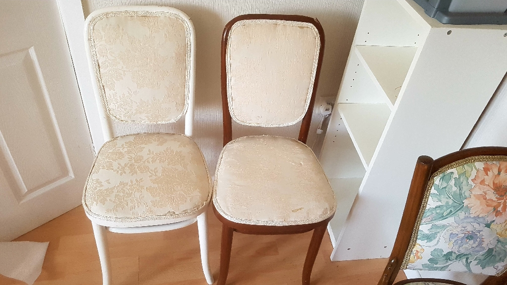 4 chairs ideal for upholstery project