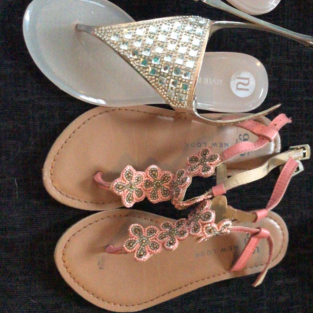 New look an river island girls flip flops