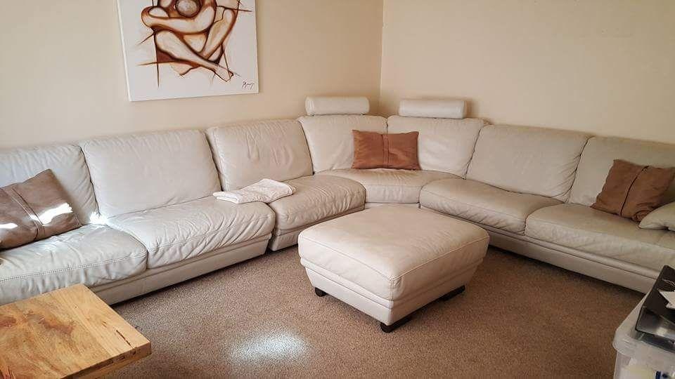 Beautiful Italian Leather *Designer Corner Sofa