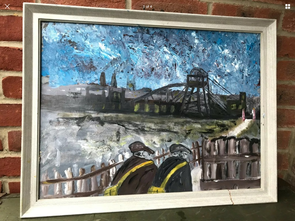 After L S Lowry fabulous large of to the mine W26in H20in