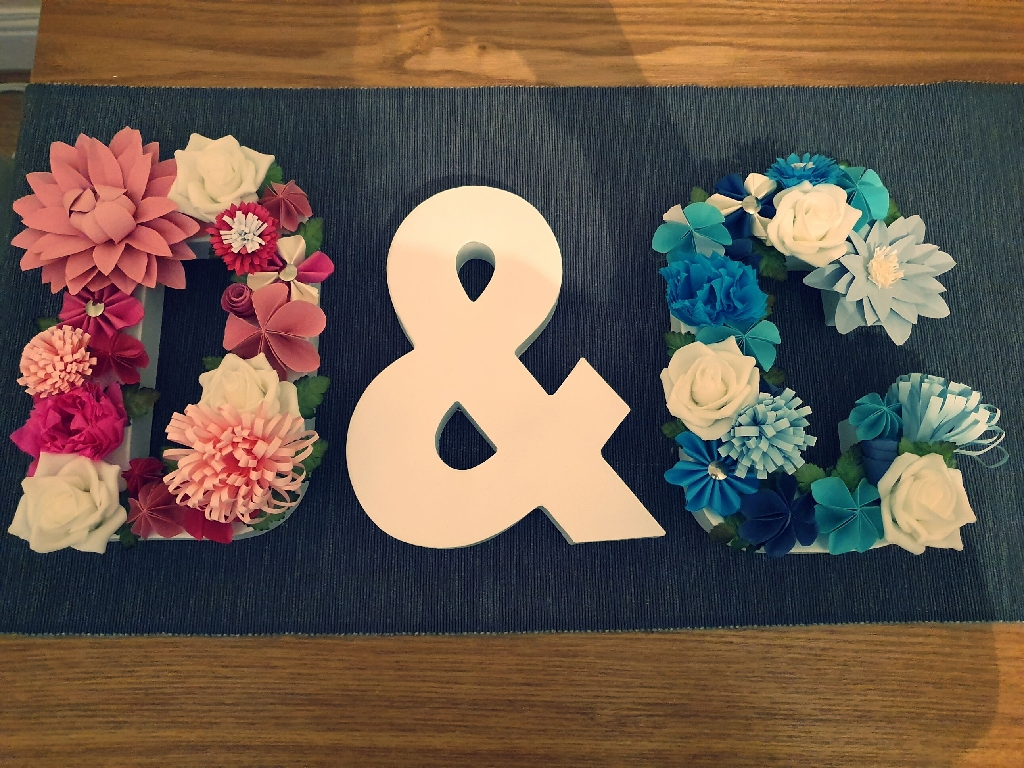 Personalized flower letters