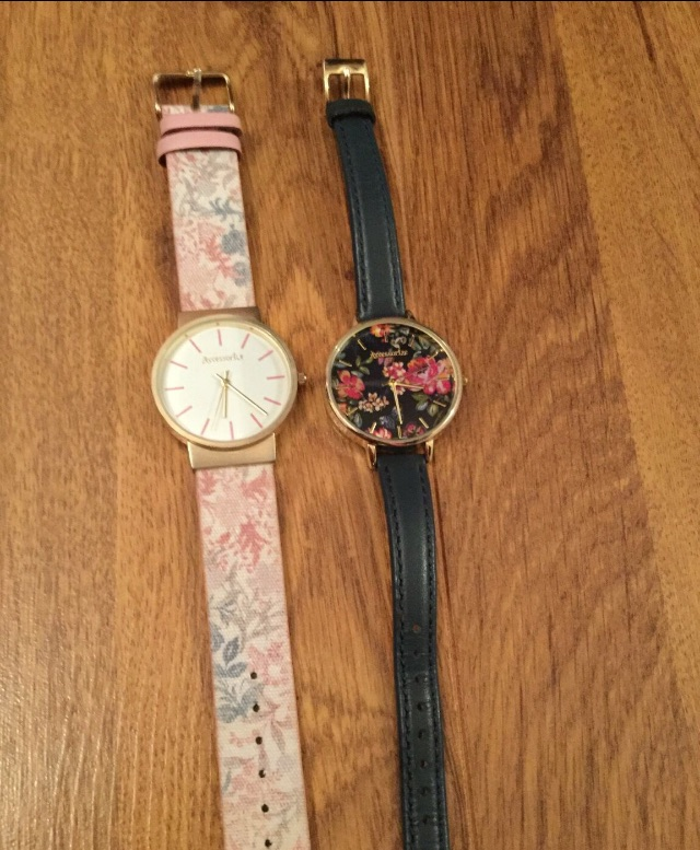 Two butterfly watches