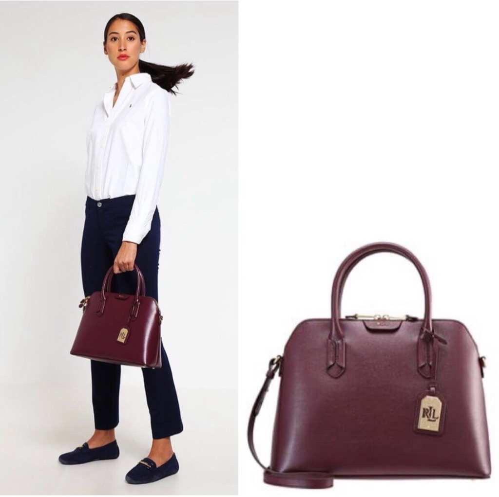 "Lauren Ralph Lauren ""Dome"" Satchel Bag"