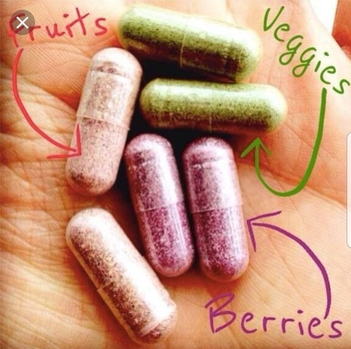 Fruit ad veg supplements and shakes