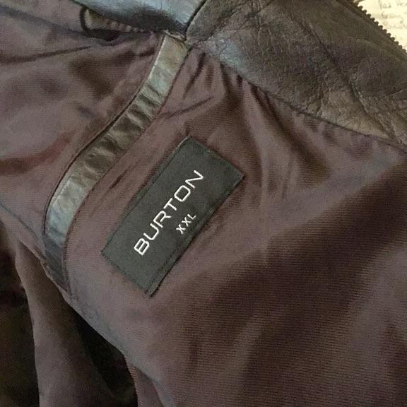 Burton leather jacket xxl