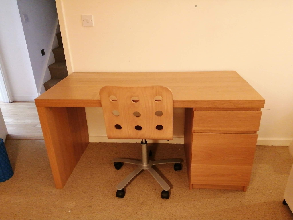 IKEA Malm desk and matching chair