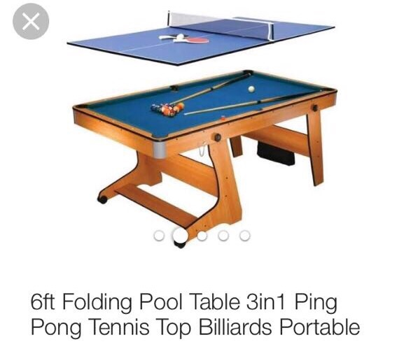 Pool table, ping pong table