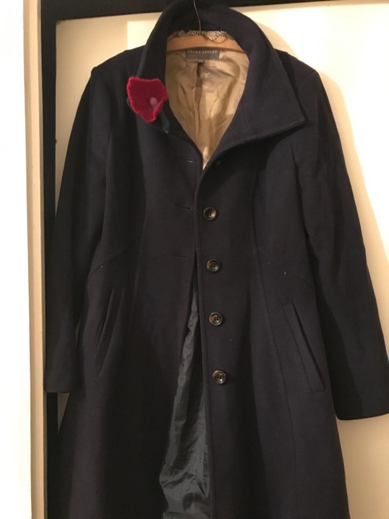 Laura Ashley Women's Navy Winter Coat Size 14