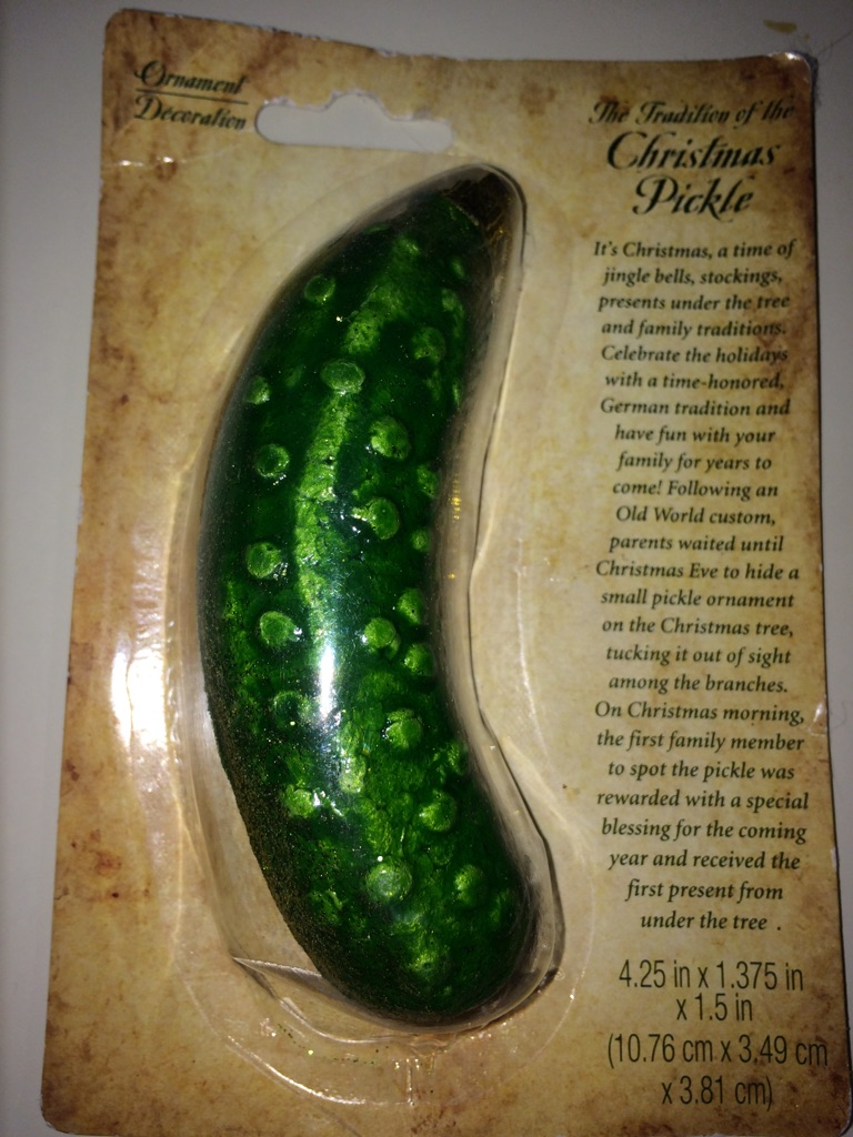 Pickle Christmas Tree Ornament