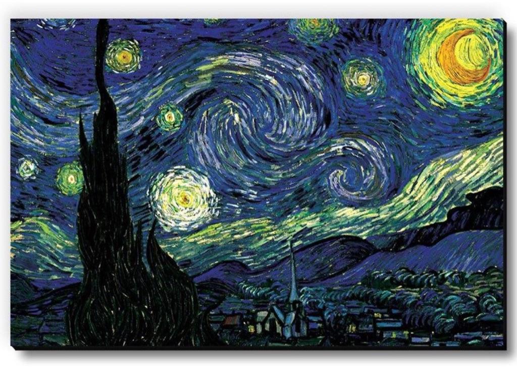 Starry Night By Vincent Van Gogh Fridge Magnet
