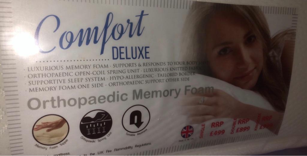 Double Orthopaedic memory foam mattress