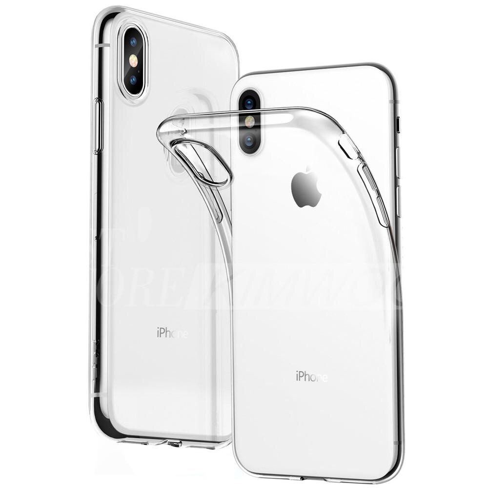 iPhone silicone clear phone case for XR