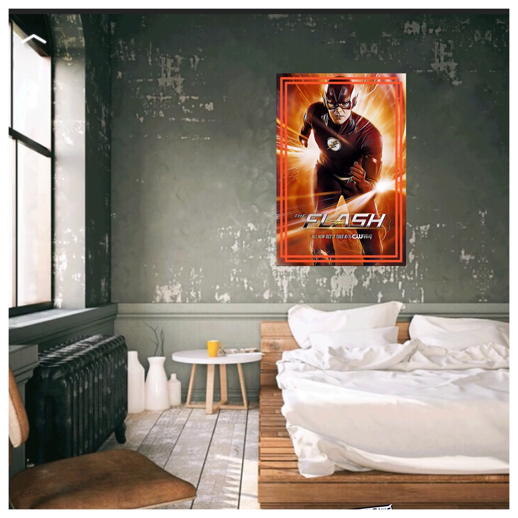 DC Comics The Flash canvas print wall hanging ready to display
